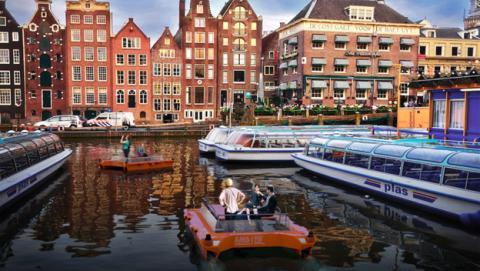 Ámsterdam probará botes autónomos en sus canales