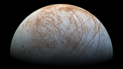 La NASA detecta 'actividad sorprendente' en la luna Europa