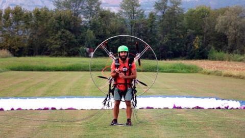 maquina voladora paramente paramotor