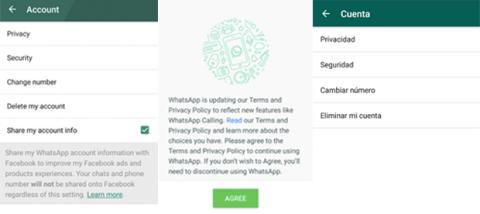 Cambios en el Menú de Cuenta de WhatsApp