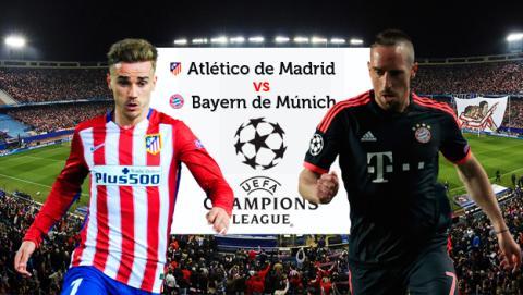 Cómo ver online  en directo el Atlético de Madrid vs Bayern de Champions por Internet