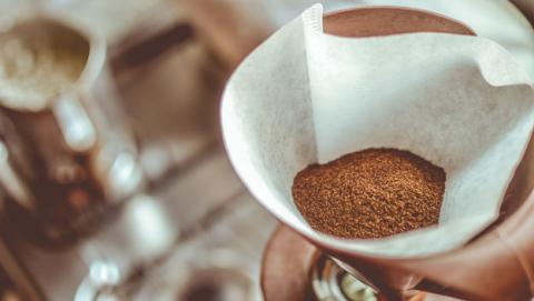 esponja filtro cafe