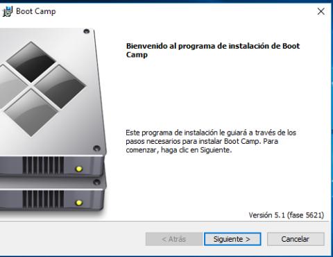 aplicación de Bootcamp en Windows