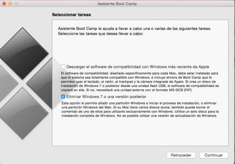 eliminar partición con Windows en Mac
