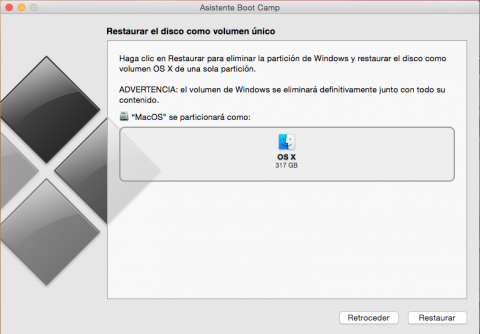 eliminar particion Windows en Mac
