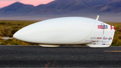 La bicicleta de Aerovelo bate el récord de velocidad