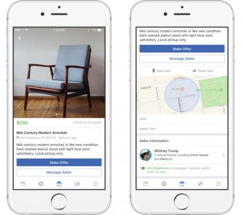 Facebook Marketplace, para comprar y vender