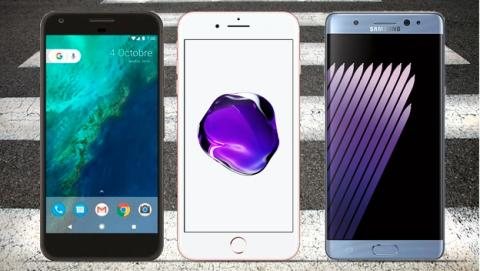 Comparativa: Google Pixel XL vs iPhone 7 Plus vs Samsung Galaxy S7 Edge vs Note7 vs LG V20