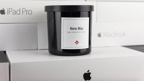 Vela con olor a Mac
