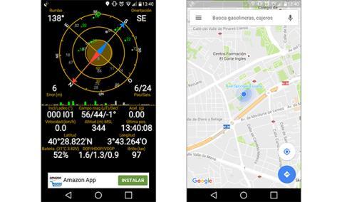 captura del GPS del LG X Power