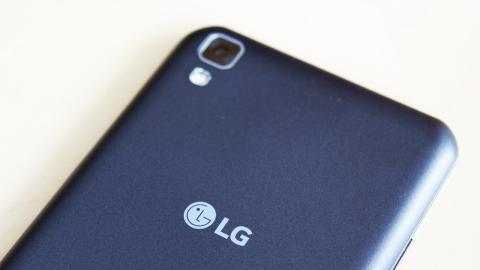 parte trasera del LG X power