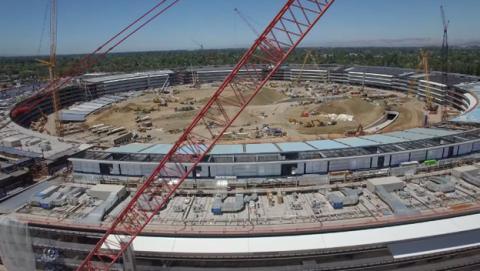 Construcción de la sede de Apple en Cupertino
