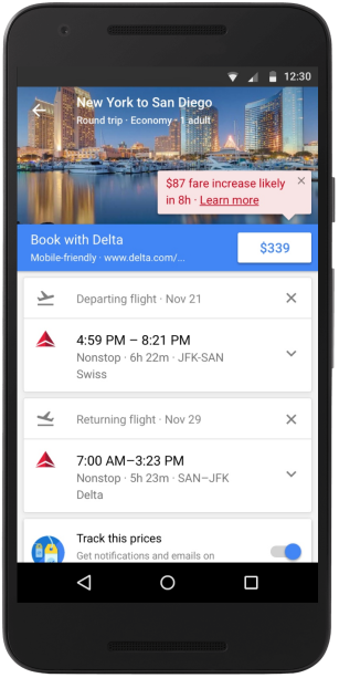 Ejemplo Google Trips