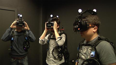 preparación antes de entrar en la sala VR de Zero Latency