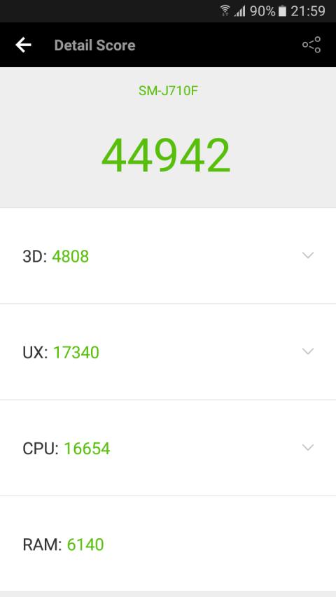 Pruebas de rendimiento y benchmarks del Samsung Galaxy J7 2016