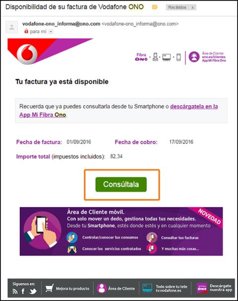 Factura real Vodafone