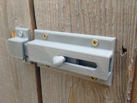 cerradura impresa en 3D