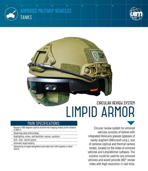 Prototipo de casco de realidad virtual con Microsoft Hololens del ejército ucraniano