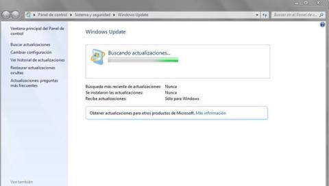 Parar el error de Buscando actualizaciones en Windows 7