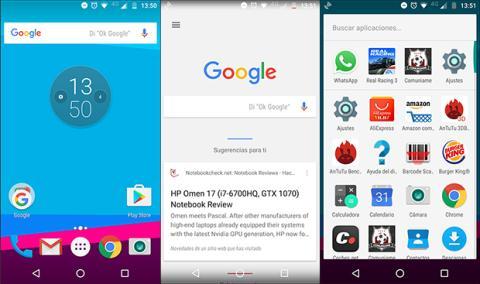 sistema android del Moto Z