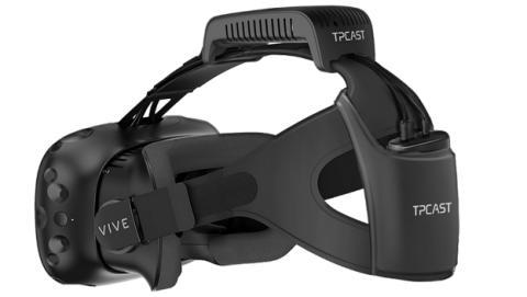 Este es el kit inalámbrico de las gafas de realidad virtual HTC Vive