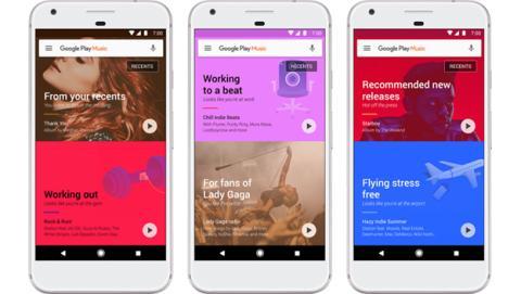 La actualización de Google Play Music que llegará a Android