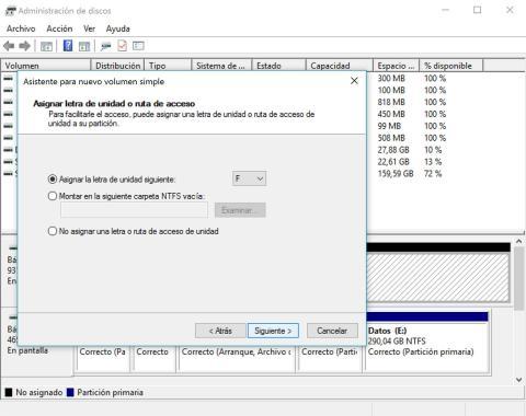 configuración del disco en el portátil paso 3