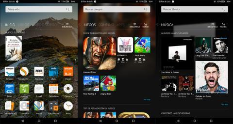 Imagen del sistema Fire OS en la Amazon Fire HD 8
