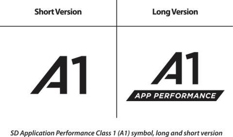 El símbolo A1 que ahora traerán las tarjetas microSD para móviles