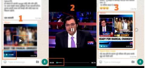 WhatsApp vídeo en streaming