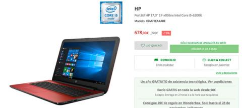 Portatil HP Cyber Monday