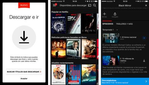 Descargar series y películas en Netflix