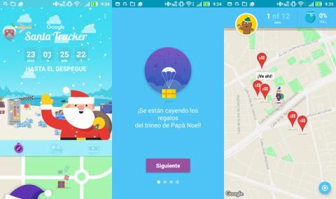 La aplicación para Seguir a Papá Noel