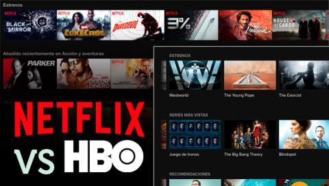 HBO vs Netflix catálogo