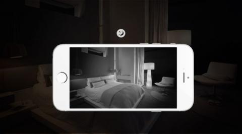 El sistema de LEDs infrarrojos hace posible grabar vídeos en la más absoluta oscuridad