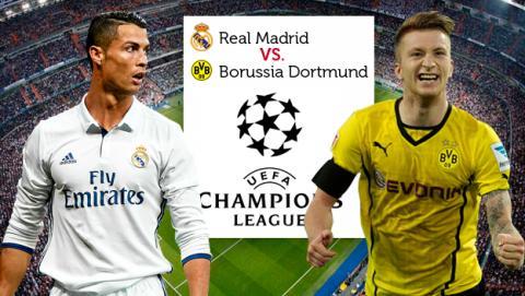 Dónde ver online y en directo el Real Madrid vs Borussia Dortmund de Champions por Internet