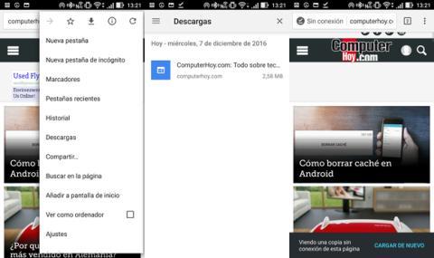 Así puedes descargar una página en Chrome