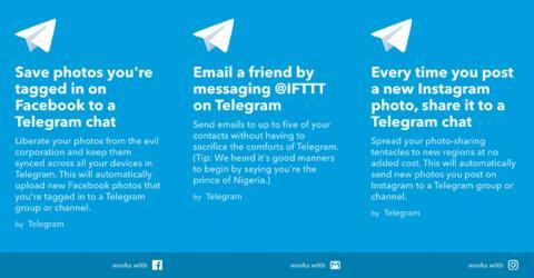 IFTTT en Telegram