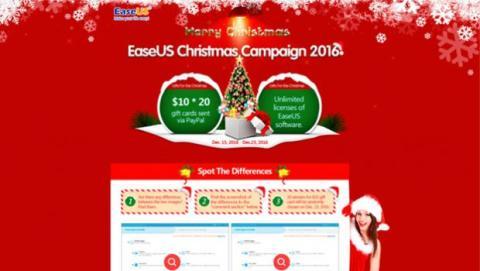 EaseUS ha lanzado una campaña especial por Navidad