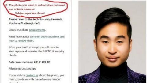 Algoritmo niega el pasaporte a un asiático por tener ojos pequeños