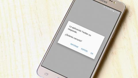 Aplicación de Twitter en el Galaxy J5