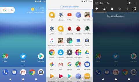 Interfaz del Google Pixel XL