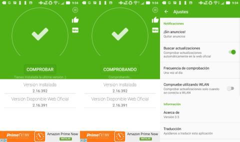 La aplicación de Actualizar WhatsApp