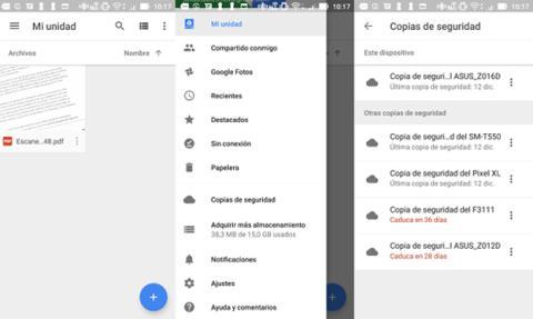 Así puedes ver tus copias de seguridad en Google Drive