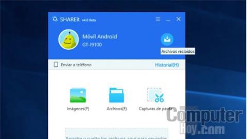Recibe archivos con SHAREit