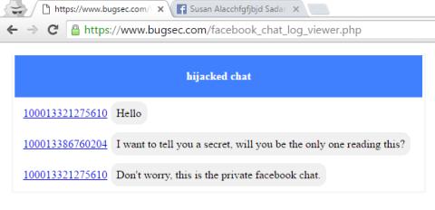 Fallo seguridad facebook messenger