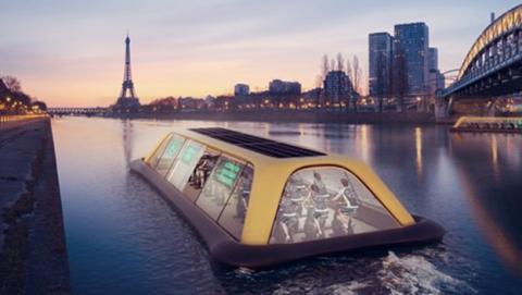 Paris Navigating Gym, el gimnasio del futuro sobre el río Sena