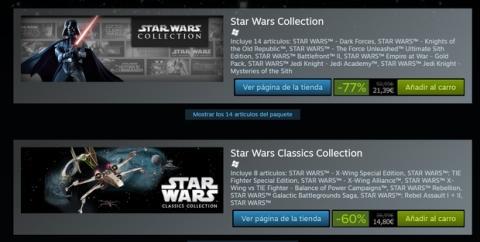 Juegos de Star Wars casi gratis en Steam por el estreno de Rogue One