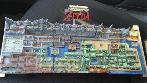El mapa del primer Zelda, impreso en 3D