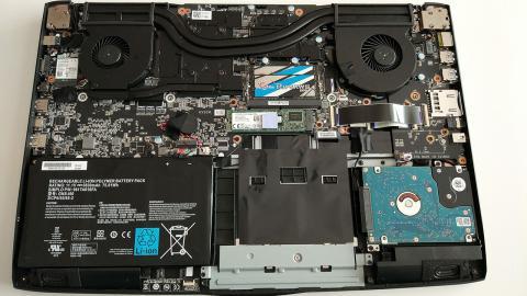 interior del gigabyte P57X